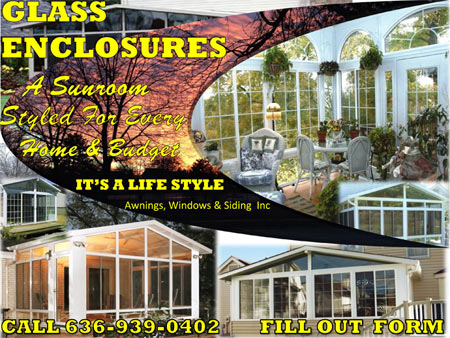 Glass enclosed sunrooms
