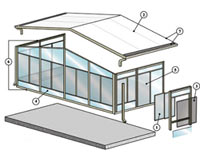 exploded view of sunroom