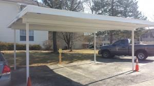 Newly installed carport