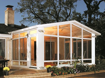 glass enclosed sunroom